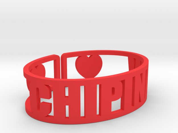 Chipinaw Cuff in Red Processed Versatile Plastic