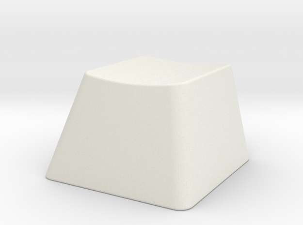 Customizable R1 MX Keycap THICK in White Natural Versatile Plastic