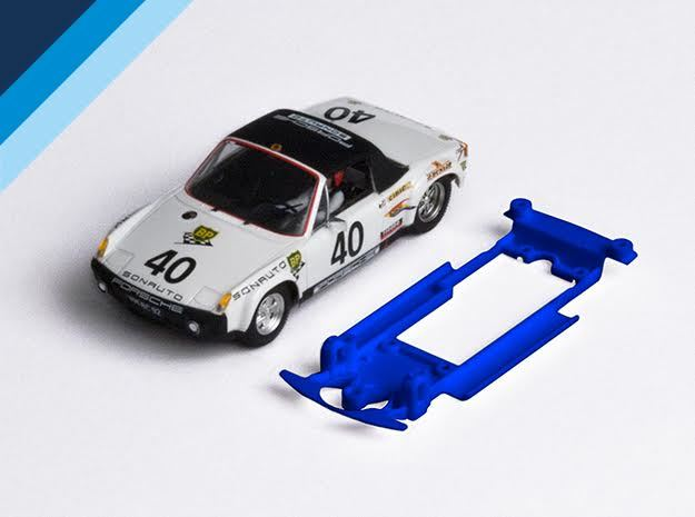 1/32 SRC Porsche 914/6 Chassis for Slot.it SW pod in Blue Strong & Flexible Polished