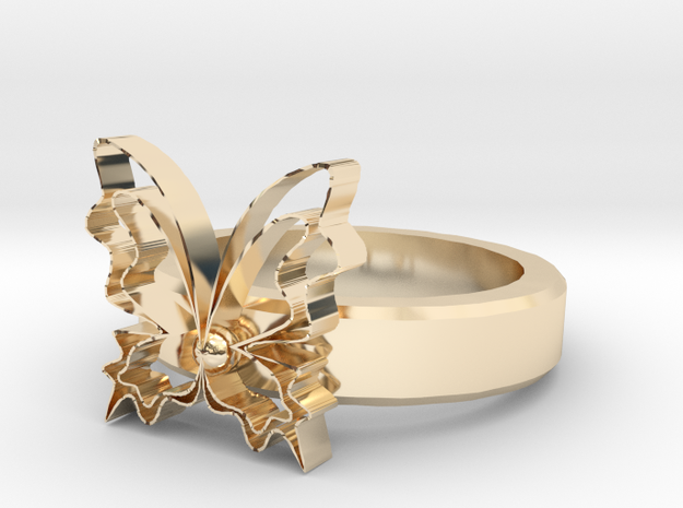 Butterfly Rings in 14k Gold Plated Brass
