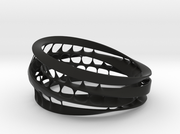 Bracelet 8 in Black Natural Versatile Plastic