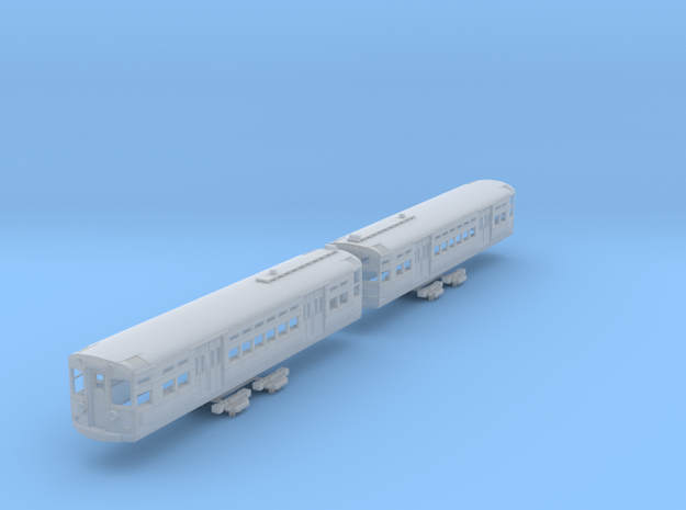 N Scale CTA 6000 Series (As-Built, w/Roofboards) in Smooth Fine Detail Plastic