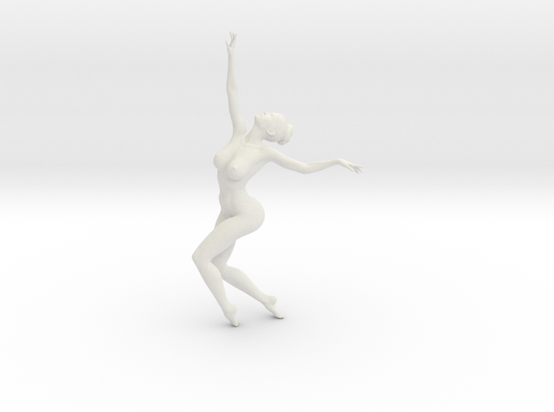 1/18 Nude Dancers 007 in White Natural Versatile Plastic