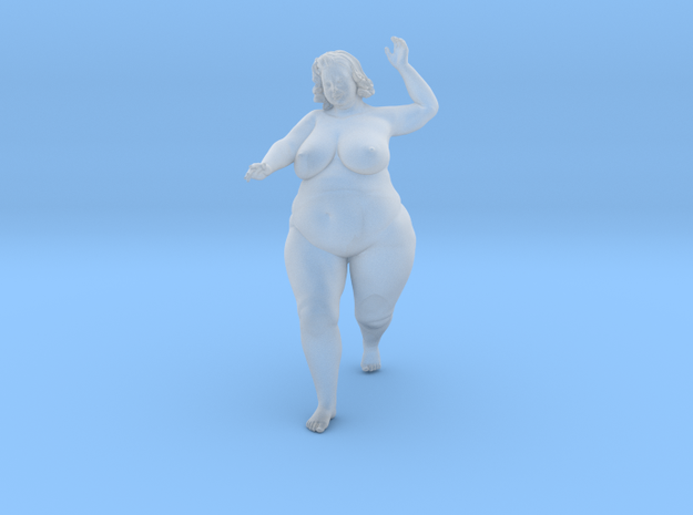 1/32 Fat Woman 006 in Smooth Fine Detail Plastic: 1:32