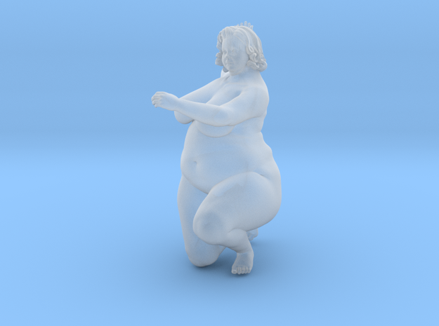 1/32 Fat Woman 007 in Smooth Fine Detail Plastic: 1:32