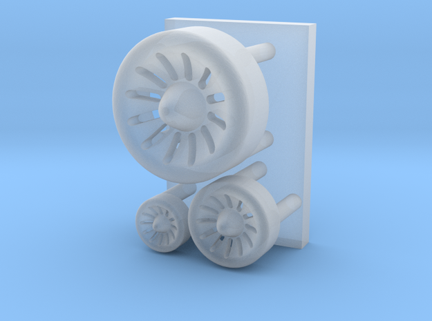 Spaceship engine parts ( enhanced version ) in Smooth Fine Detail Plastic