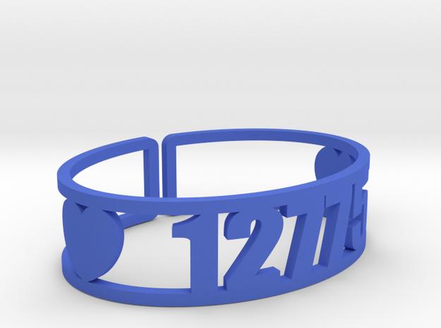 Iroquois Springs Zip Cuff in Blue Processed Versatile Plastic