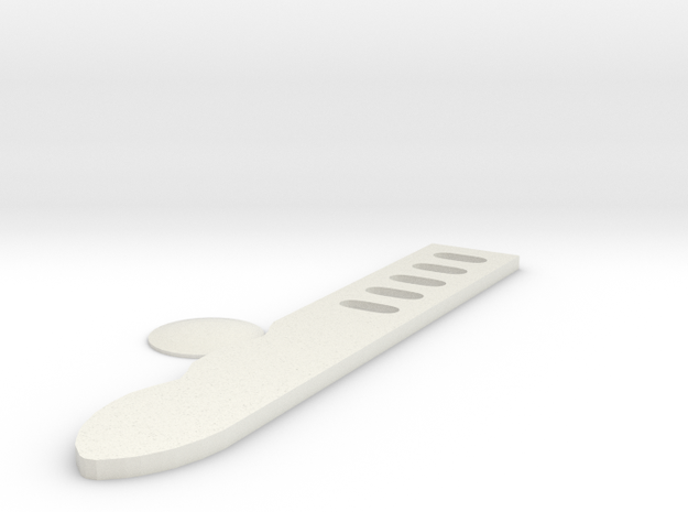 Shin tool Combat knife  in White Strong & Flexible