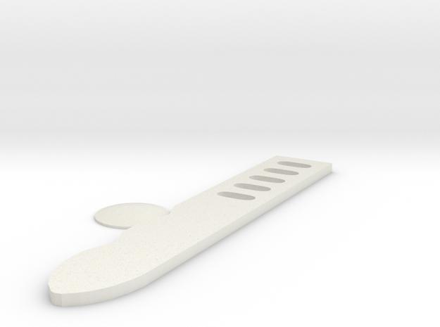 Shin tool Combat knife  in White Natural Versatile Plastic