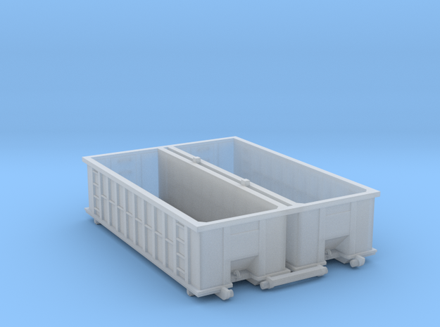 Industrial Dumpster 30yd (Qty 2) - N 160:1 Scale in Smooth Fine Detail Plastic