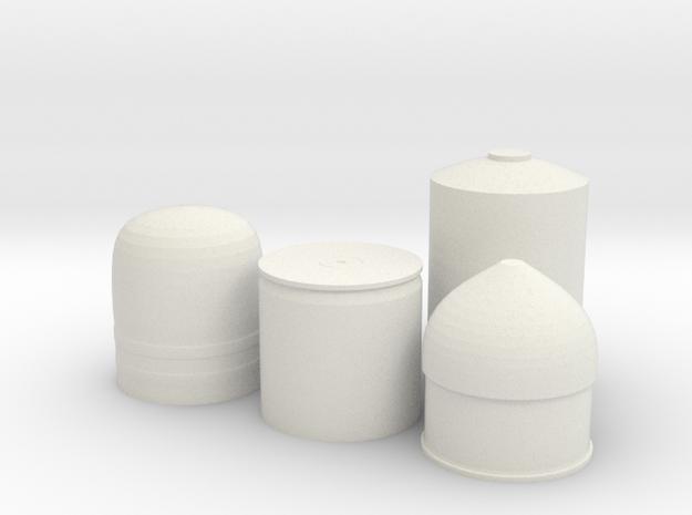 40MM prop round in White Natural Versatile Plastic