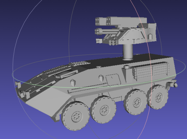1/144 LAV-AD (Air Defense) 3d printed