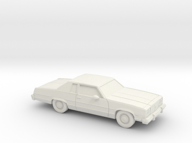 1/43 1977 Oldsmobile Delta 88 Coupe in White Natural Versatile Plastic