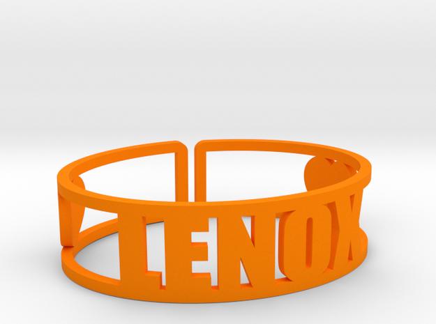 Lenox Cuff in Orange Processed Versatile Plastic