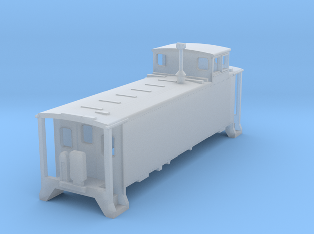 Ho scale DRGW 01400 caboose Blank Windows in Frosted Ultra Detail