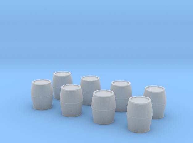 N Scale Barrels in Smooth Fine Detail Plastic