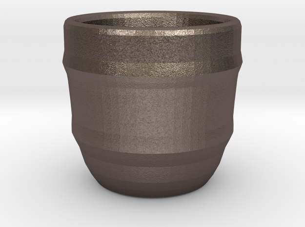 Design Cup for Coffee or else will keep the Coffee in Polished Bronzed Silver Steel