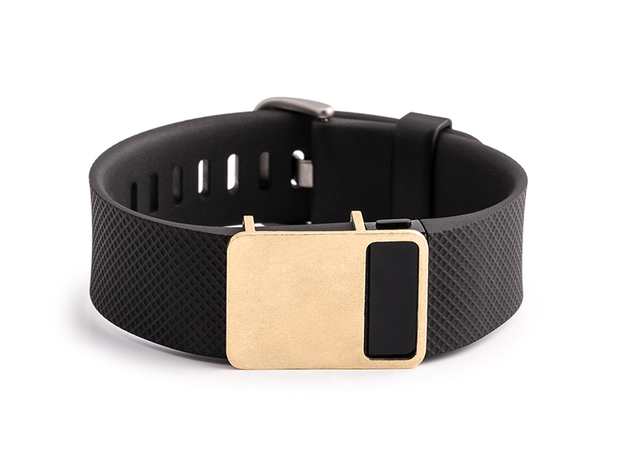 Rasa slide for Fitbit Charge & HR in Raw Brass