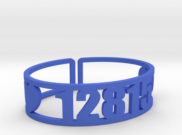 Point O'Pines Zip Cuff in Blue Processed Versatile Plastic