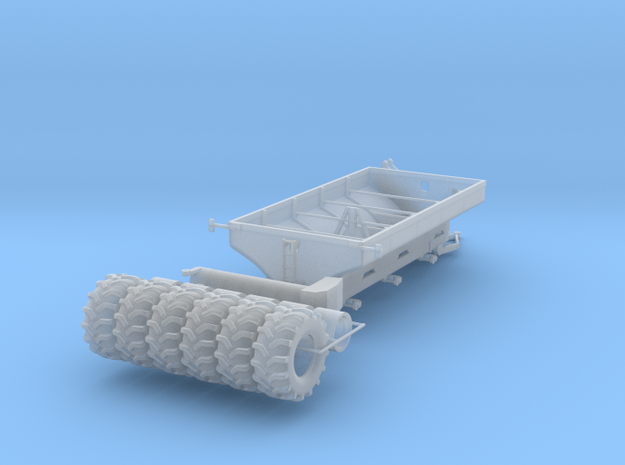 1/64 Grain Cart 3 axle with wheels and tires in Smooth Fine Detail Plastic