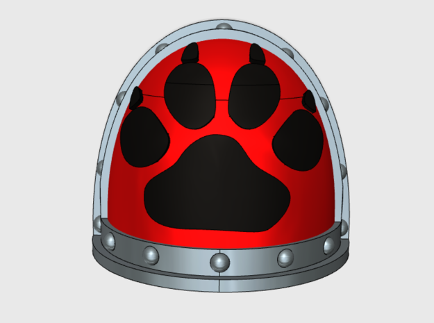 Paw Print- Gen2:Crusader Shoulder x10 in Smooth Fine Detail Plastic
