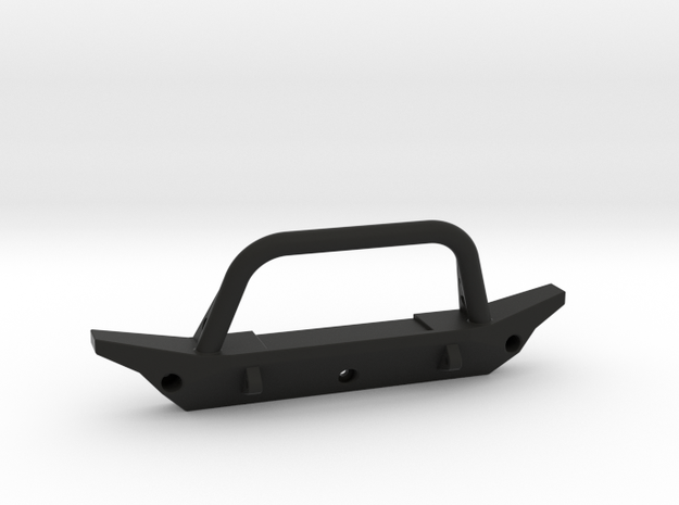 1/10 Scale Jeep front bumper in Black Natural Versatile Plastic