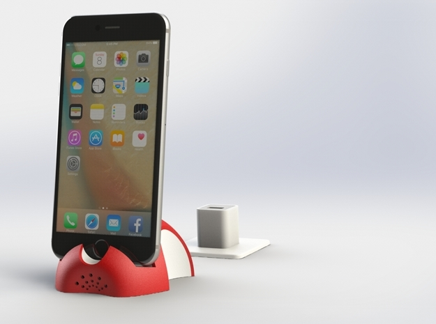 iPhone 6S/6S Plus Dock-Red in Full Color Sandstone