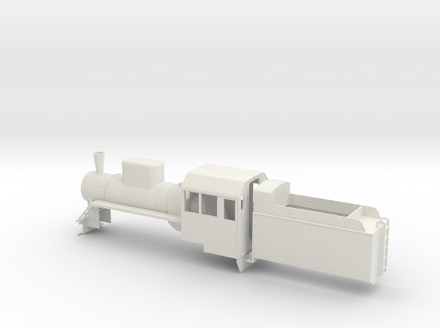 B-35-c2-loco-plus-tender-1a in White Natural Versatile Plastic