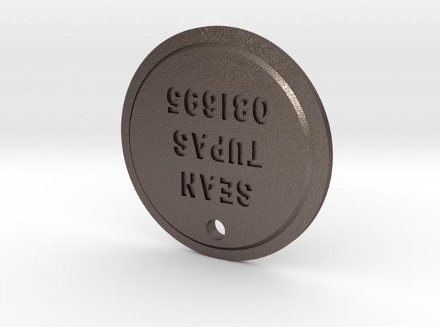 TLOU Pendant - Sean Tupas 081695 in Polished Bronzed Silver Steel