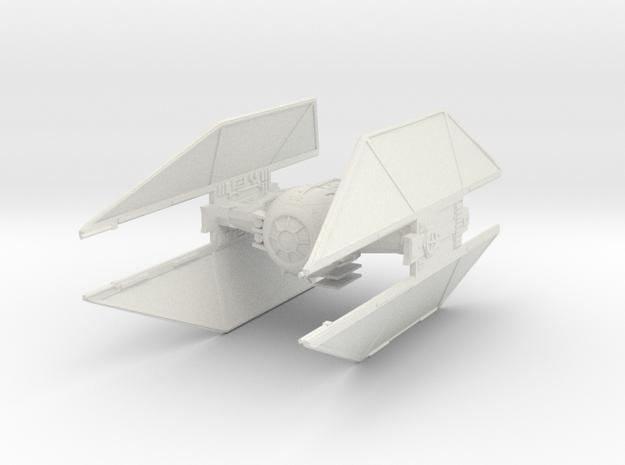 TIE Avenger Fine Molds scale in White Strong & Flexible