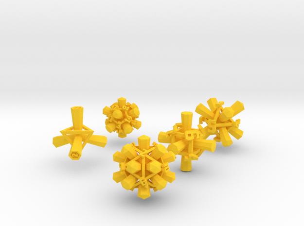 """Rattling Bones"" Dice: Complete Set! 3d printed"