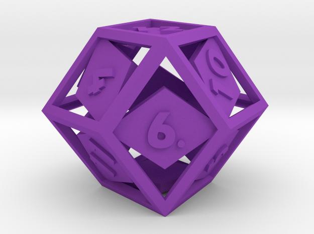 Open Rhombic d12 3d printed