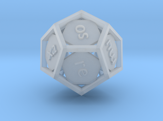 Lojban d12 - 12-sided die 3d printed