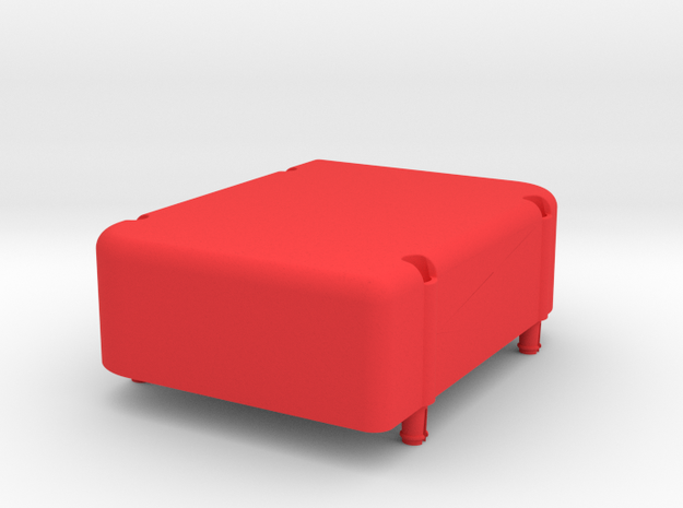 SCP2 Piggyback Power Box in Red Processed Versatile Plastic