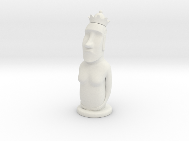 Moai Queen in White Natural Versatile Plastic