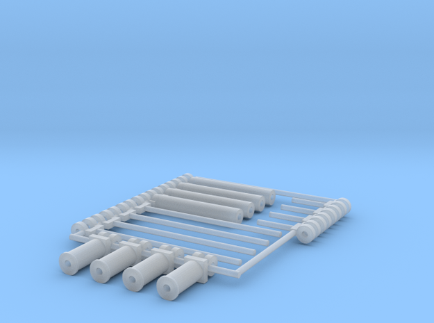 1/64 Wishek Replacement Cylinders in Smooth Fine Detail Plastic