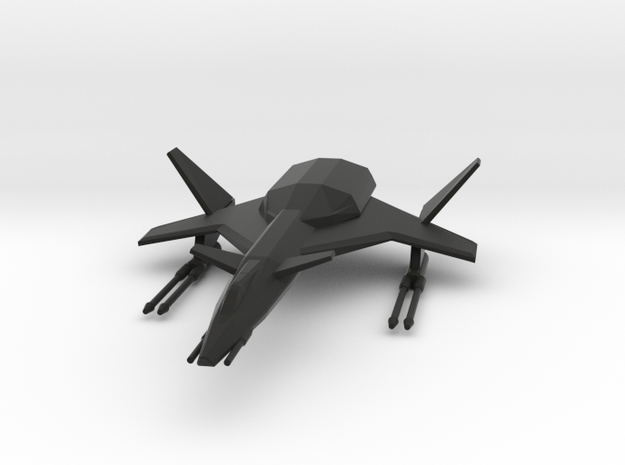 Raptor Space Fighter in Black Strong & Flexible