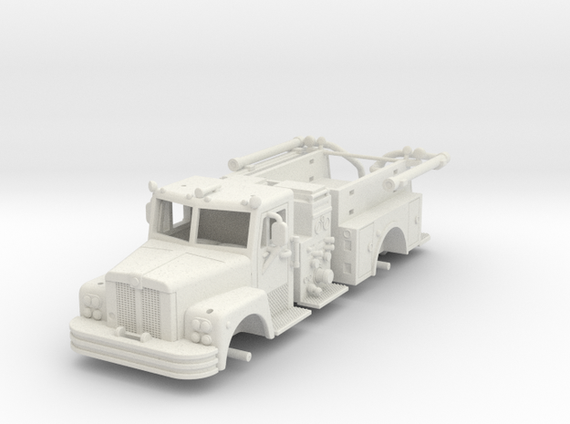 Maxim2.stl (1) Fire Truck in White Strong & Flexible
