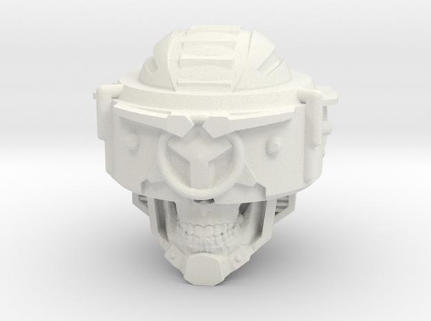 """Skull Klops"" custom 1:6th scale head in White Strong & Flexible"