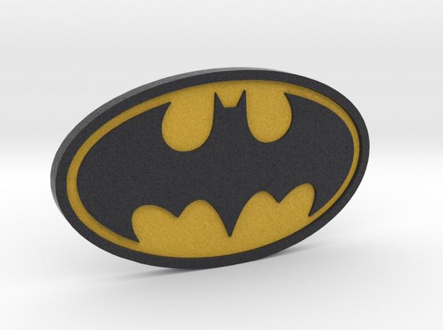 Classic Batman Logo in Full Color Sandstone