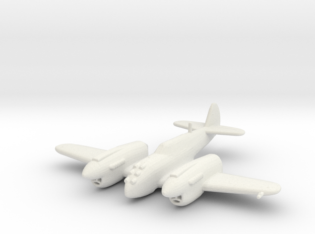 Curtiss P-40 Twin (Prototype) in White Natural Versatile Plastic: 1:200