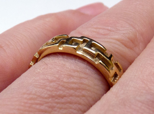 A maze ring (from $12.50) in 18K Gold Plated