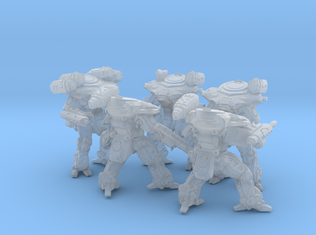 Quenn Tactical Armor Squad in Smooth Fine Detail Plastic
