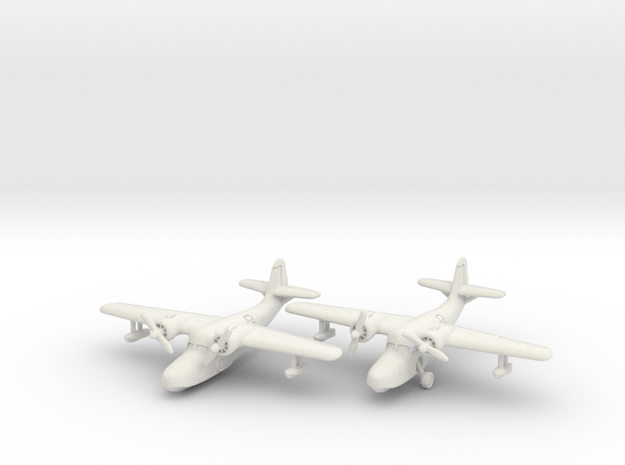 Grumman JRF-5 Goose (2 airplane set) 1/285 6mm in White Natural Versatile Plastic