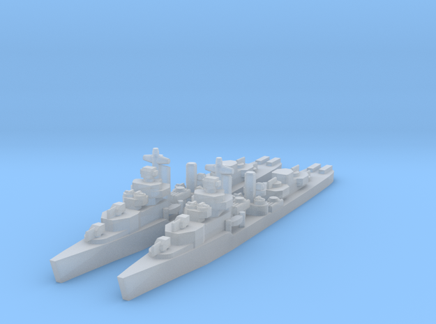 Mahan class destroyer 1/4800 x2 in Smooth Fine Detail Plastic