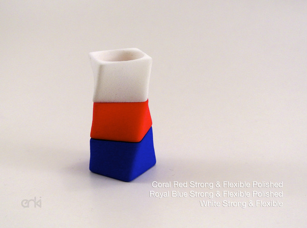 Twisted Cube - Ring - size58 - diam18,5mm 3d printed