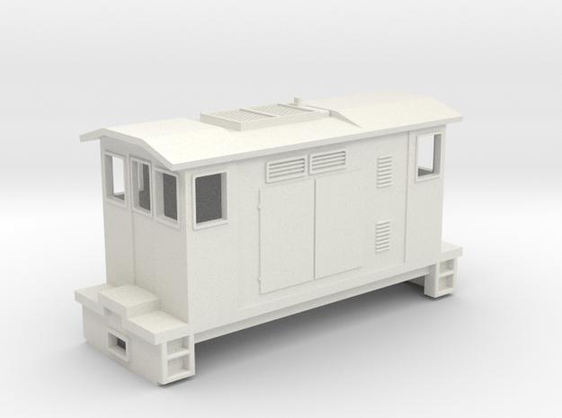 """HOn30 Boxcab Locomotive (""""Maud"""" V1) in White Natural Versatile Plastic"""