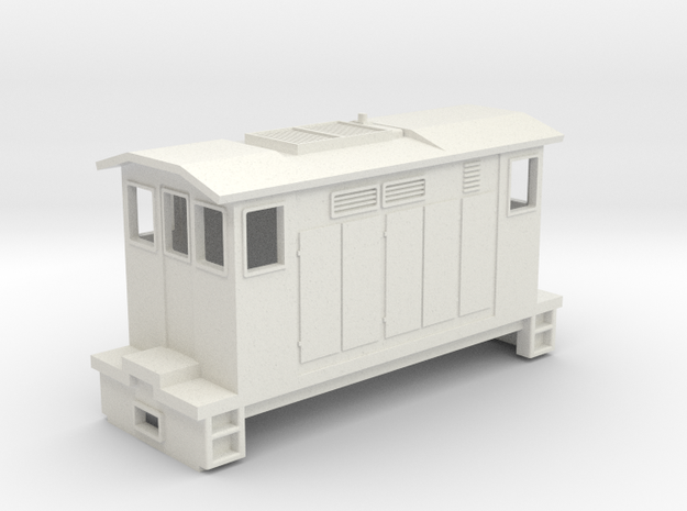 """HOn30 Boxcab Locomotive (""""Maud"""" V2) in White Strong & Flexible"""