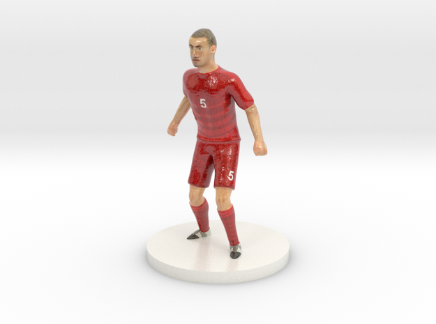 Czech Football Player in Glossy Full Color Sandstone