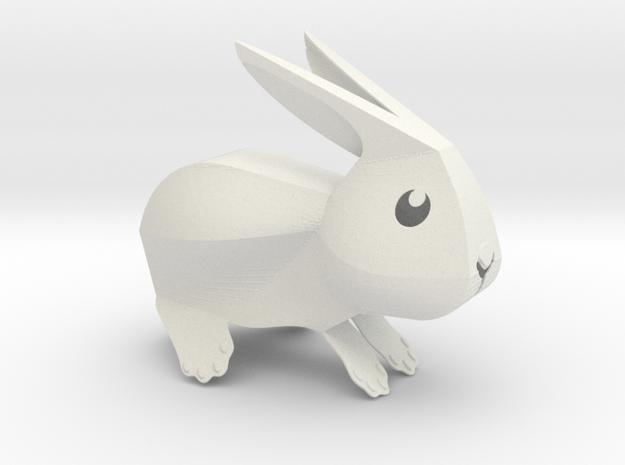 Little Bunny - V2 in White Natural Versatile Plastic